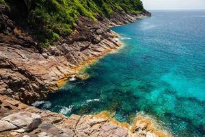 blauw tropisch oceaanwater foto