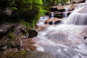 cascade in een bos foto