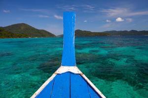 boot op het water foto