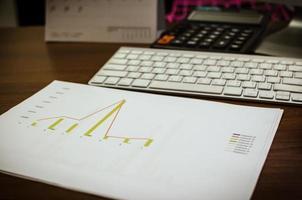 bedrijfsfinanciering, boekhouding, statistieken en analytisch onderzoekconcept