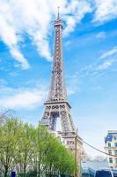 Eiffeltoren in de ochtendtijd in Parijs, Frankrijk foto