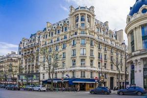 Parijs, Frankrijk, 9 april 2018, woongebouwen in Parijs