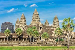 oude tempel in angkor wat, siem reap, cambodja