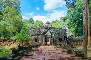 banteay kdei-ingang in het tempelcomplex van angkor wat, siem reap, cambodja