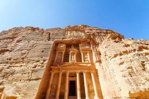 de schatkist in de oude Arabische nabatean koninkrijk stad Petra, Jordanië
