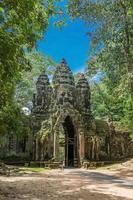 noordelijke poort van angkor thom-complex in de buurt van siem reap, cambodja