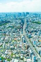 luchtfoto van de stad tokyo, japan foto