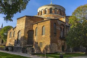 griekse oost-orthodoxe kerk hagia irene in istanbul, turkije foto