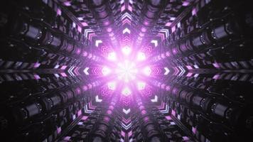 kleurrijke 3d het ontwerpillustratie van de caleidoscoopbloem voor achtergrond of textuur foto