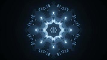 3d het ontwerpillustratie van de caleidoscoopsneeuwvlok voor achtergrond of textuur foto