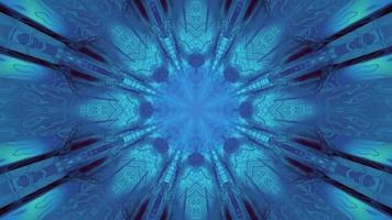 kleurrijke 3d caleidoscoop ontwerp illustratie voor achtergrond of textuur