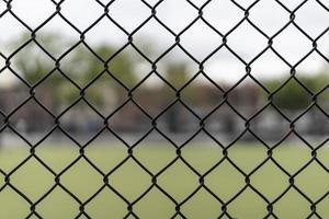 kettingschakel in een park met een onscherpe achtergrond foto