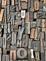 verschillende grootte gebruikte houten persblokken
