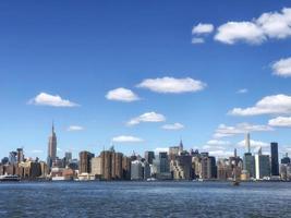 de skyline van de stad van new york