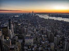 skyline van Manhattan van bovenaf