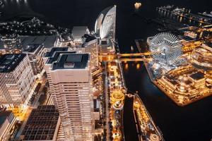 prachtige gebouwen in de stad Yokohama foto