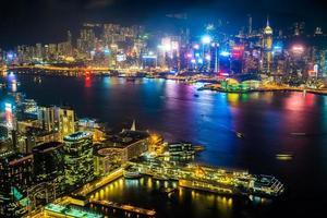 stadsgezicht van hong kong, china foto