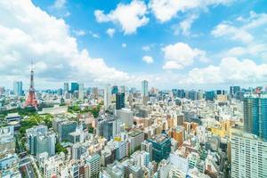 gebouwen in tokyo city, japan