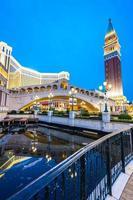 de Venetiaanse en andere hotels en casino's in de stad Macau