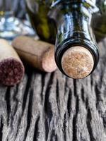 close-up van wijnkurken foto