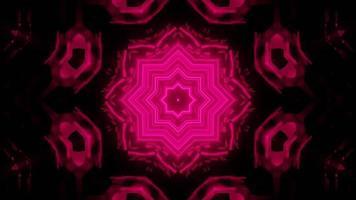 bloemen 3d caleidoscoop ontwerp illustratie voor achtergrond of textuur foto