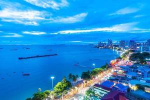 prachtige architectuur in pattayastad, thailand foto