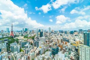 gebouwen in tokyo city, japan foto