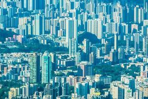 stadsgezicht van hong kong foto