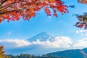 mt. fuji in japan in de herfst