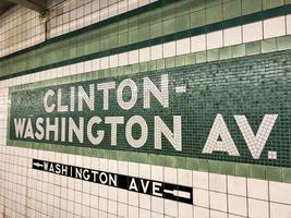 clinton washington metrostation teken. foto