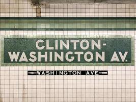 clinton washington metrostation teken foto