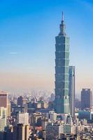 taipei 101 toren in de stad van taipei, taiwan