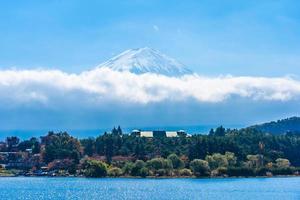 landschap op mt. fuji in japan in de herfst