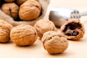 close-up van walnoten foto