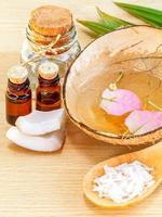 natuurlijke kokosnoot spa-behandeling foto