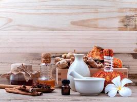 kruiden spa-behandeling foto