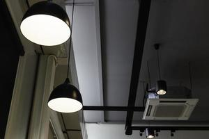 caféverlichting aan de binnenkant