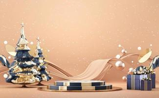 abstract kerst podium podium mockup
