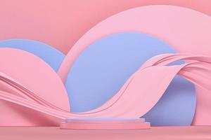 abstracte minimale roze en blauwe achtergrond foto