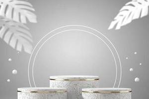 abstract podium podium mockup