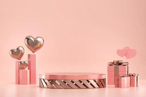 Valentijnsdag podium podium mockup
