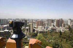 uitzicht op Santiago de Chile vanaf de heuvel van Santa Lucia foto