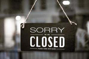 sorry we zijn gesloten teken