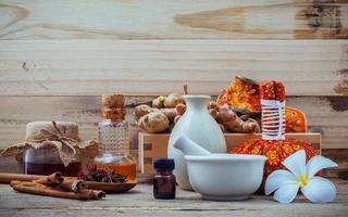 biologische spa-ingrediënten foto
