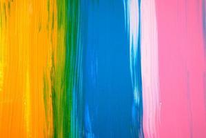 abstract kleurrijk acryl schilderij