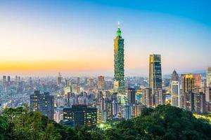 taipei 101 toren en uitzicht op taipei, taiwan foto
