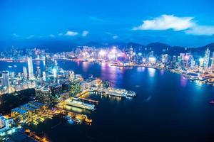 uitzicht op de stad hong kong, china foto