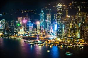 uitzicht op de stad hong kong, china