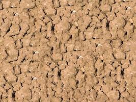 patch van droge en gebarsten grond voor achtergrond of textuur foto