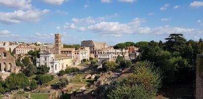 oude ruïnes in Rome, Italië